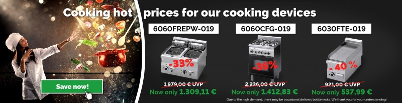 Cooking hot prices for our cooking devices