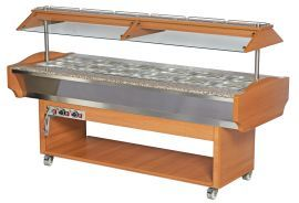 Hot Catering Display Bar, 2180 x 900 x 870 mm