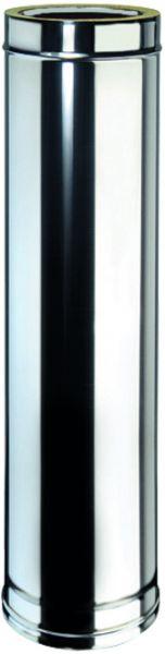 Doppelwandiges Edelstahlrohr Ø 450 mm, Länge: 1 m