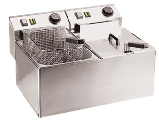 Fritteuse, 2x 7-8 Liter, 230 Volt, 2x 3,0 kW