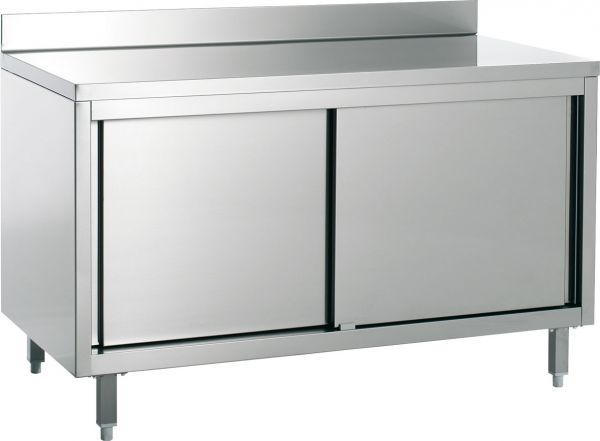 Work Cabinet 2500x600x850mm with Upstand
