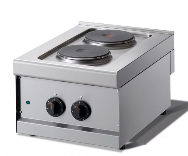 Electric Cooking Hob, 2 Hot Plates, Tabletop Unit