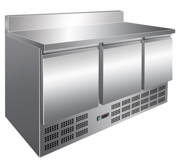 Kühltisch, 400 Liter, Edelstahl, 3 Türen