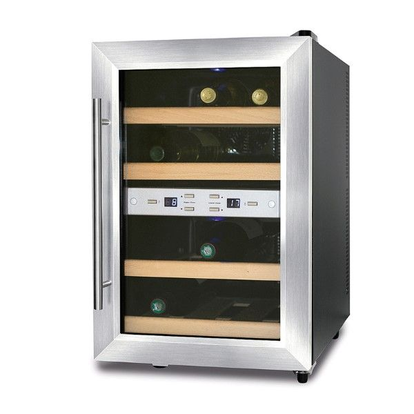 Wine Climate Control Cabinet for 12 Wine Bottles, 2 Cooling Zones