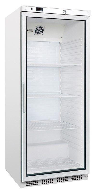 Kühlschrank ECO, weiß, Glastür, 620 Liter | GastroPlus24