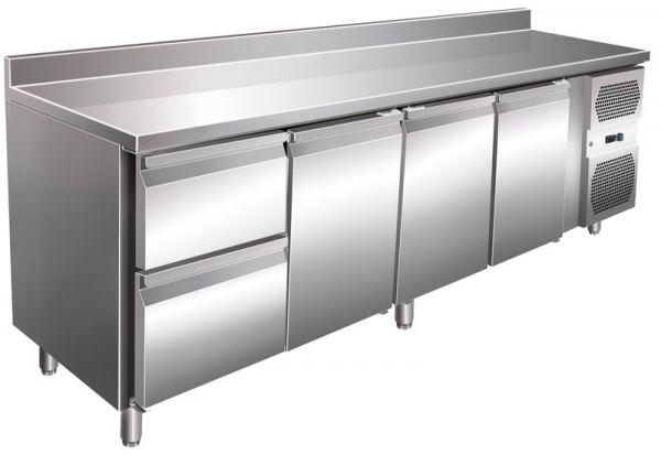 Kühltisch VIP-4C2A, 616 Liter, 3 Türen, 2 Schubladen, GN 1/1