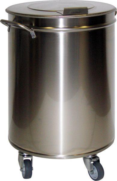 Abfalleimer, Edelstahl, 95 Liter Inhalt