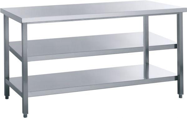 Arbeitstisch mit 2 Böden, B x T x H: 600 x 800 x 850 mm, TOP-Line