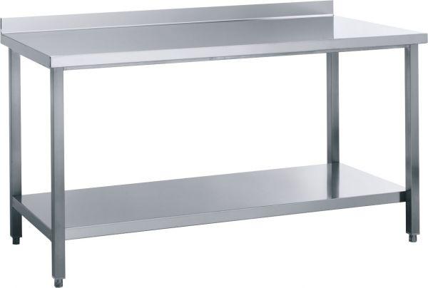 Arbeitstisch 2000x600x850 mm, mit Aufkantung, 1 Boden