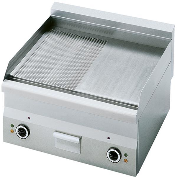Elektro-Grillplatte, Tischmodell, glatt und gerillt, 6,0 kW
