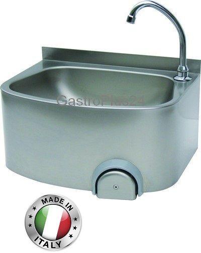 Handwaschbecken, 480 x 360 x 220 mm, Knie- oder Handbetätigung