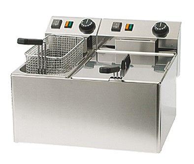 Fritteuse, 1x 7-8 Liter, 1x 4-5 Liter, 230 Volt, 3,0 kW