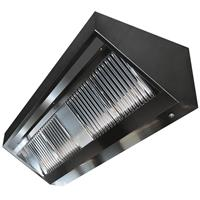 Wall mount range hood 1000x700x450 mm, motor, controller, lighting