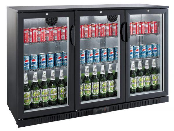 Flaschenkühlschrank LG-330H, 330 Liter, schwarz
