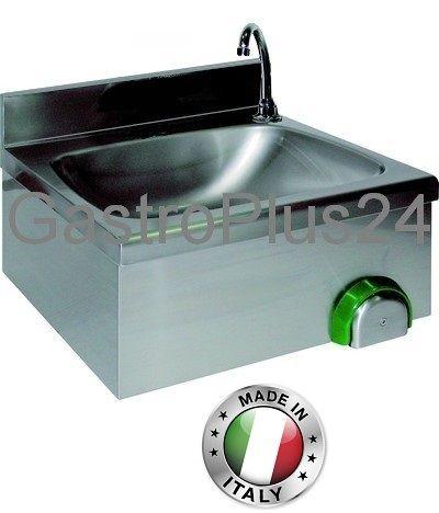 Handwaschbecken, 500 x 400 x 240 mm, Knie- oder Handbetätigung