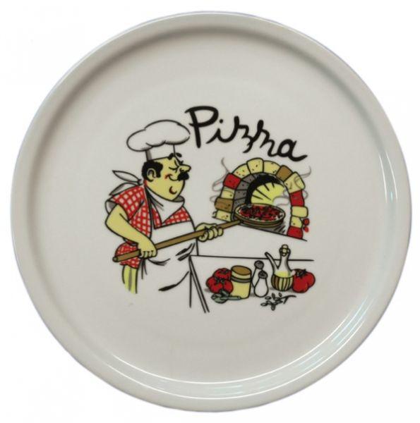 6 Pizza Plates, Ø 300 mm, Design 5