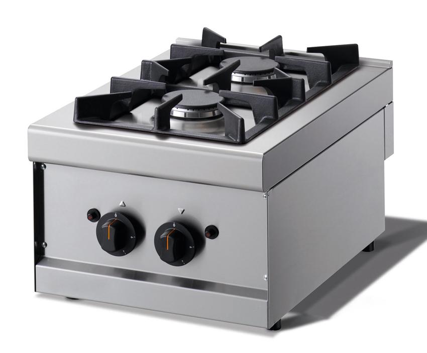 gasherd 2 flammen tischger t 400x600x270mm gastroplus24. Black Bedroom Furniture Sets. Home Design Ideas
