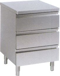 Schubladenschrank 480x600mm, 3 x 1/1 GN   GastroPlus24