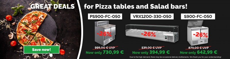 GREAT DEALS for Pizza tables and Salad bars!