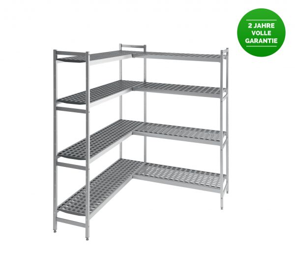 Shelf System T 370 mm for Cold/Freezer Room CR 3 + CR 5, 1060x370x1670mm + 1180x370x1670mm