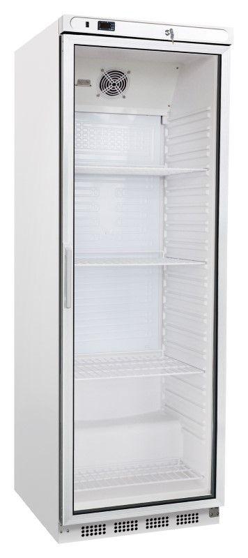 Kühlschrank ECO, weiß, Glastür, 350 Liter | GastroPlus24