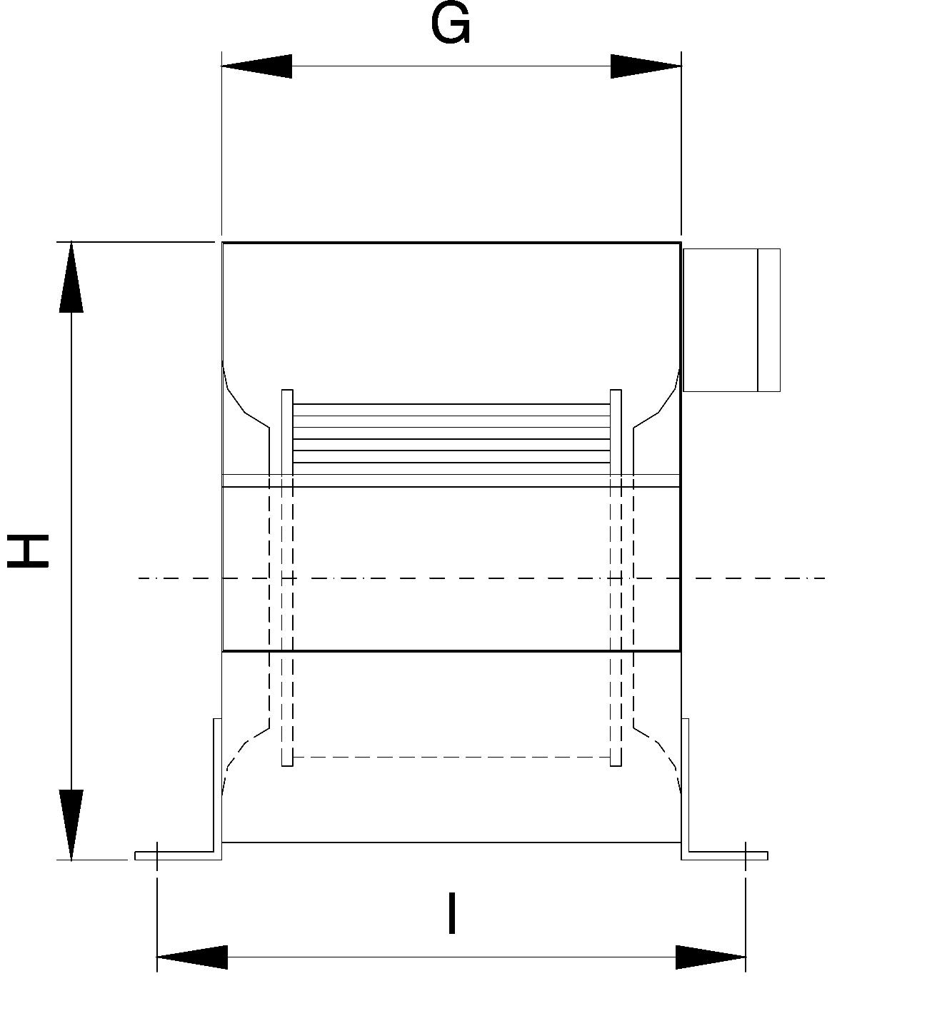 Radial fan, 9.9 Amp. 9000m³/h