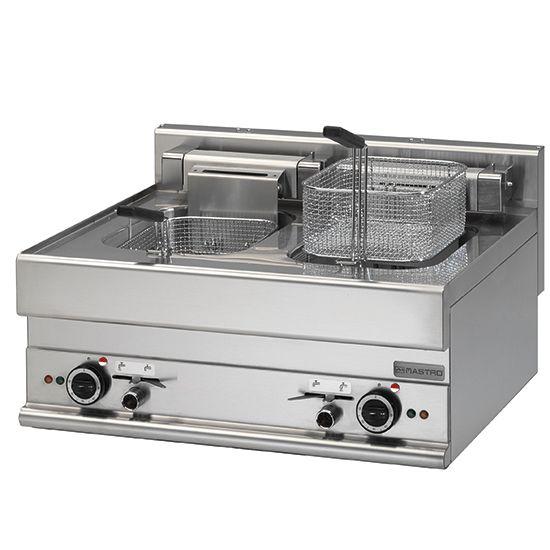 Elektro-Fritteuse, Tischmodell, 10+10 Liter, 700x650x280mm
