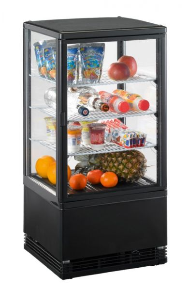 Refrigerated Counter 70 BB, 70 Litres, black