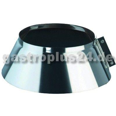 Wetterschutzkragen für einwandiges Edelstahlrohr, Ø 450 mm